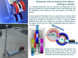 Kick and Go Scooter with Auxiliary Drive Wheel: Update