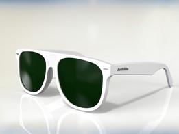 Flattop wayfarer sunglasses