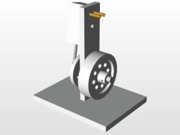 Oscillating Cylinder Steam Engine