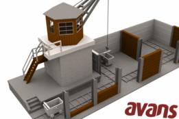 Coal storage - Faller - Reversed Engineering - 3D printable