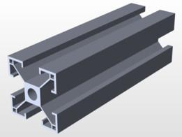 Perfil estrutural de alumínio - 300x300mm