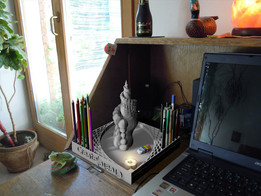 Sculpture for pencil holdr