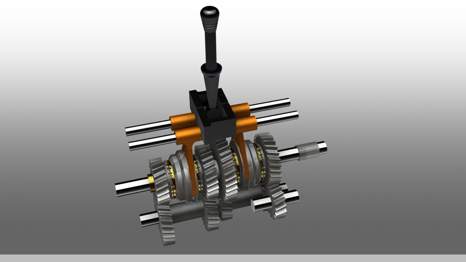 4 Speed Gearbox | 3D CAD Model Library | GrabCAD
