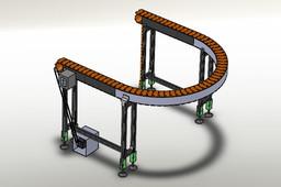 Curve SLat Chain Conveyor
