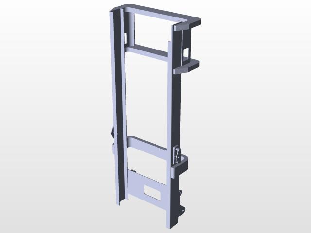 Forklift Frame (1) Solidworks | 3D CAD Model Library | GrabCAD