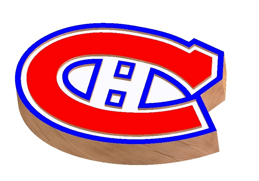 Montreal Canadiens Logo 3d Cad Model Library Grabcad