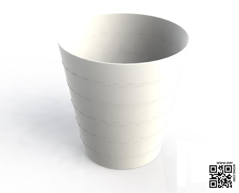 Ikea trash can 3d cad model library grabcad for Ikea trash cans