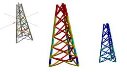 Projeto de uma torre de transmissão no Ansys