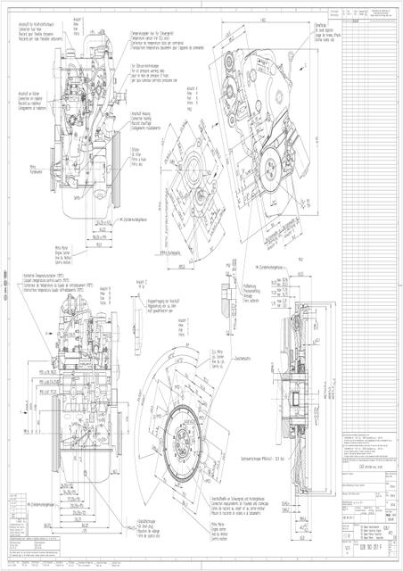 2d drawing in pdf of vw tdi engine 028 serie