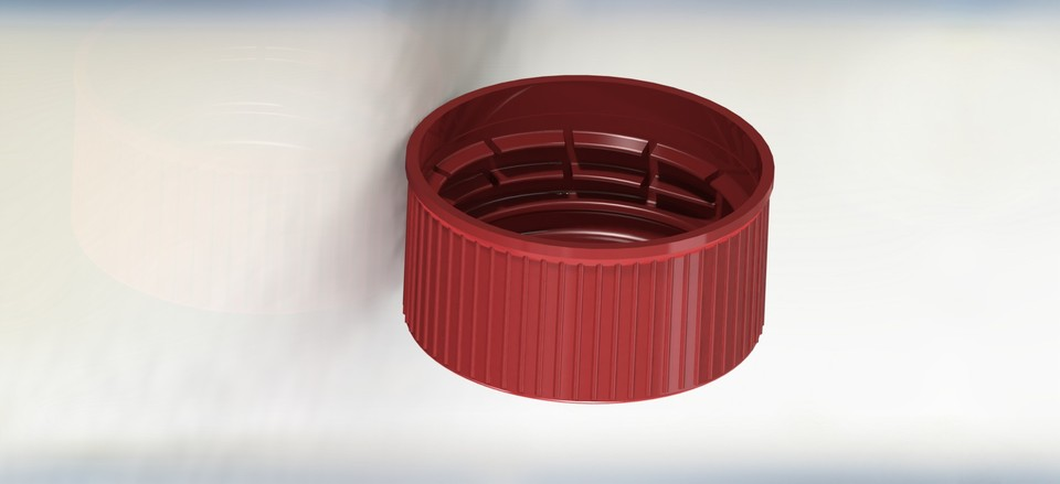 Red Bottle Cap | 3D CAD Model Library | GrabCAD