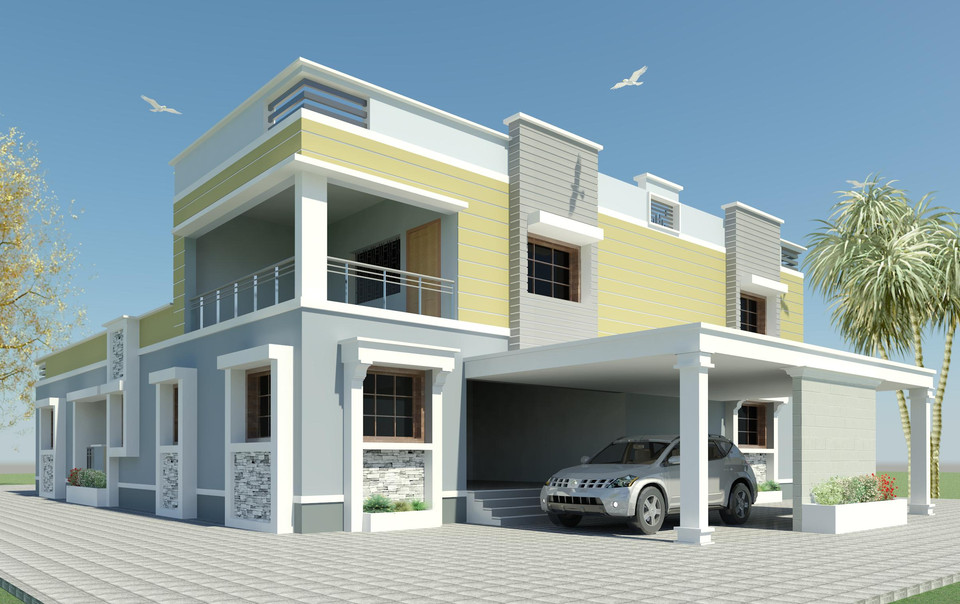 revit villa model | 3D CAD Model Library | GrabCAD
