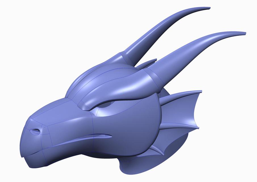 3D Dragon Head 3D CAD Model Library GrabCAD