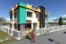 3d Building elevation