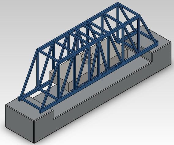 Truss bridge design | 3D CAD Model Library | GrabCAD