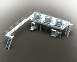Food Processing Mezzanine, Sheet metal and Tubular combination, how it's made food manufacturing