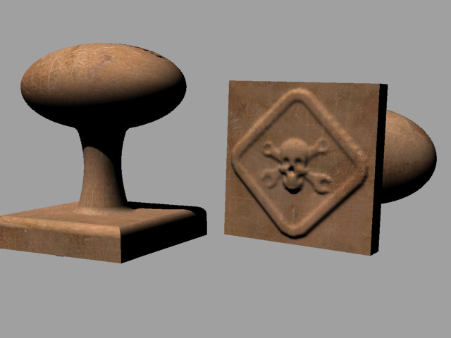 Wall Paper Emboss stamp | 3D CAD Model Library | GrabCAD