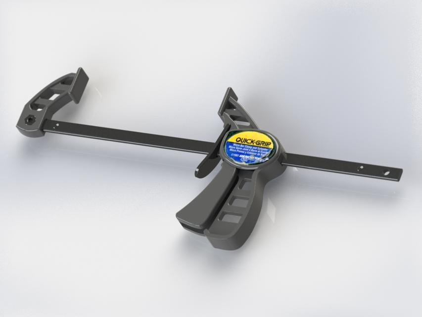 Quick grip bar clamp solidworks d cad model grabcad