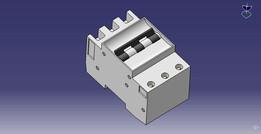 Thermomagnetic circuit-breaker tripolar siemens mod. 5sx1 / disjuntor termomagnetico tripolar siemens mod. 5sx1