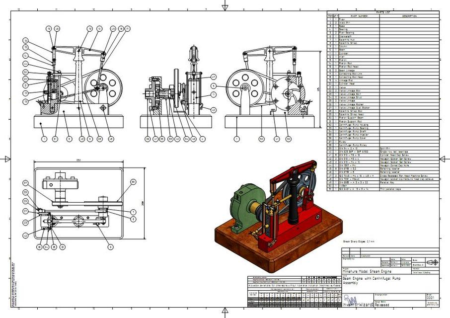 D I Y Mini Steam Engine With Horizontal Beam And