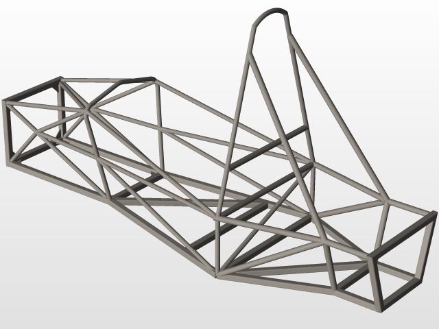 FSAE Space Frame 2 | 3D CAD Model Library | GrabCAD
