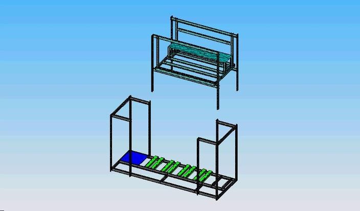 Parallel System rack used in refrigeration systems.