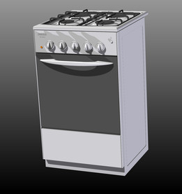 Gas oven zanussi
