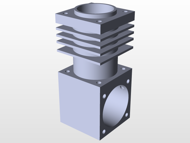 2 Stroke RC Glow Plug Engine   3D CAD Model Library   GrabCAD