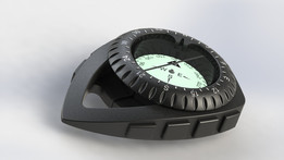 Kompass in Clip Konsole