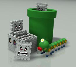 THWOMP! Paper Weights (SNES Super Mario World)