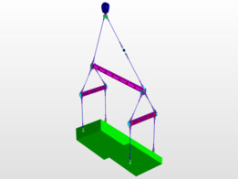 Load on Sling Calculated and Spreader Arrangement