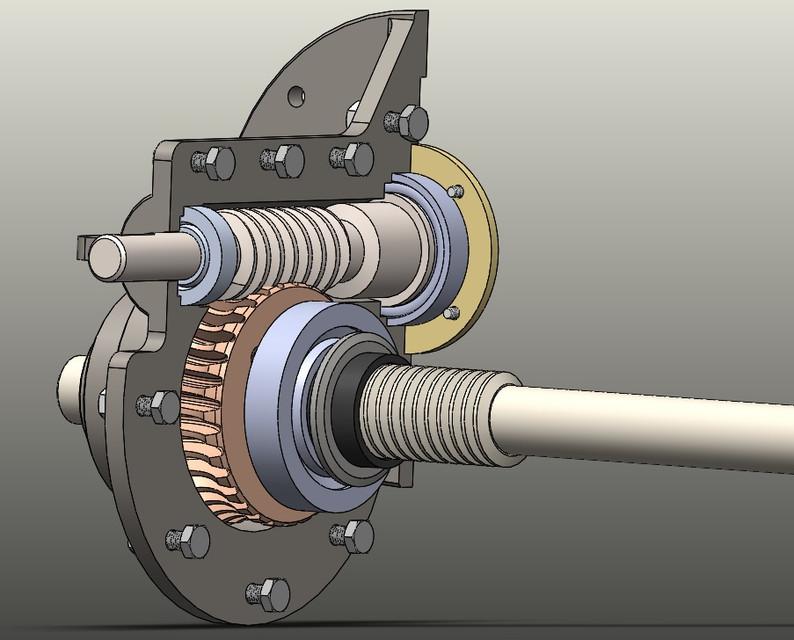 worm gear | 3D CAD Model Library | GrabCAD