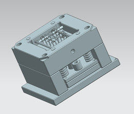 Injection mold for plastic shaft (high accuracy)
