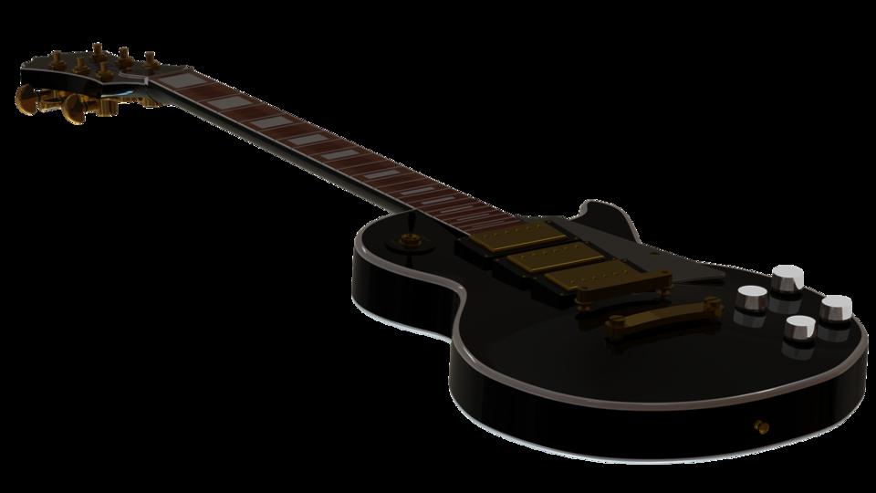 Electric Guitar Epiphone Black Beauty 3d Cad Model Library Grabcad