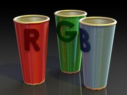 RGB glazed ceremic flower vases
