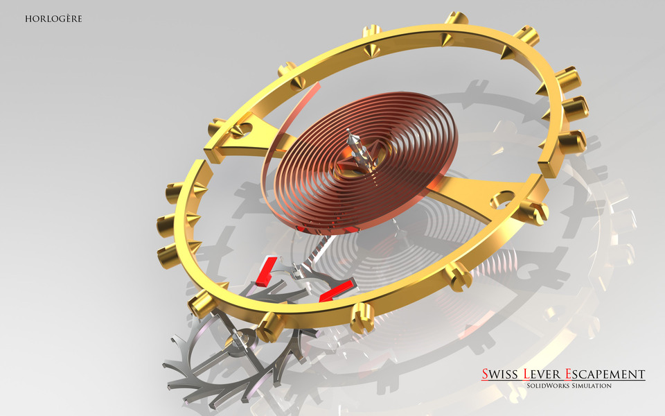 Swiss Lever Escapement | 3D CAD Model Library | GrabCAD