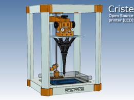 Cristelia - Open Source LCD SLA resin printer