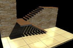 Steel / Wooden Modern Stair - TopSolid 7