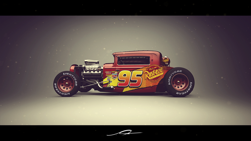 Finished 1930 Ford Model A Coupé Hot Rod | 3D CAD Model Library ...
