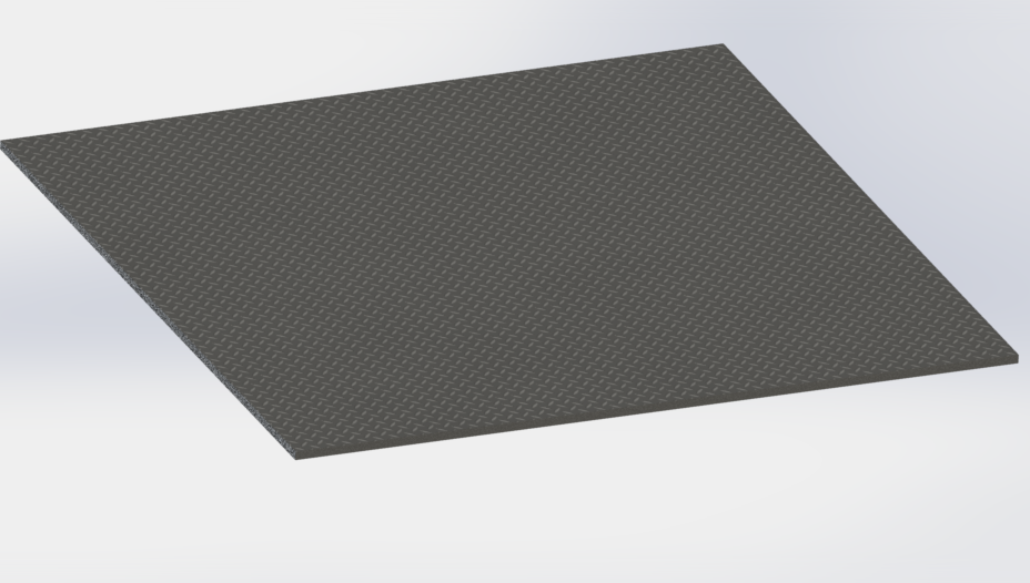 Checker Plate Editable 3d Cad Model Library Grabcad
