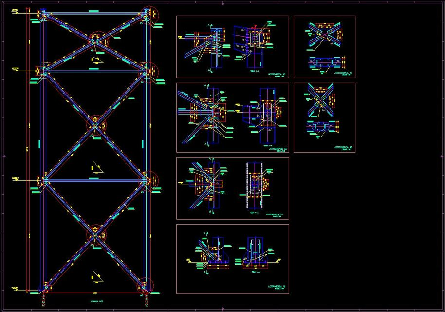Structural Steel Connections Dwg : Steel connection details d cad model library grabcad