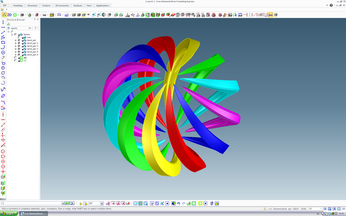 Tutorial spiral sphere ptc creo elements 3d cad model - Creo projects ...