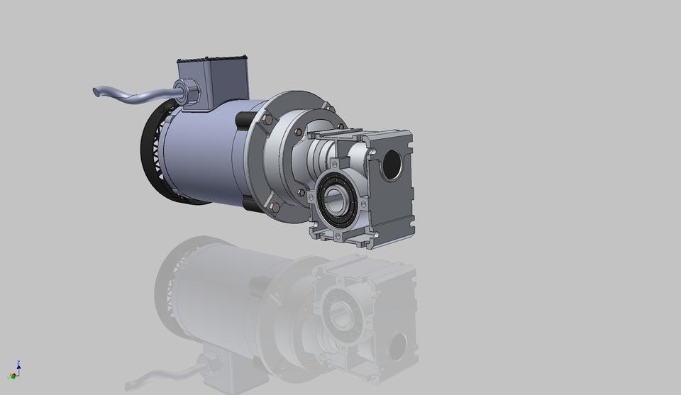 Conveyor Drive Motor Step Iges Stl Autodesk Inventor