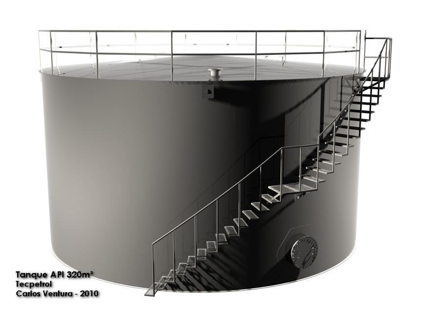 API TANK 320m³ DESIGN | 3D CAD Model Library | GrabCAD