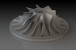 Turbo exhaust turbine blade