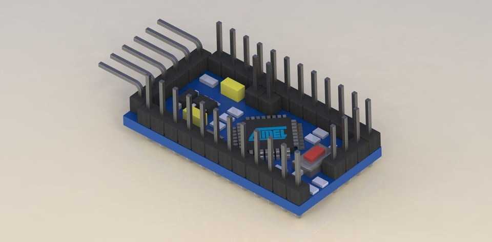 Arduino mini d cad model library grabcad