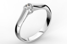 Engagement ring with 0.30 ct diamond