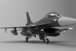 F-16 jet by Steen Winther
