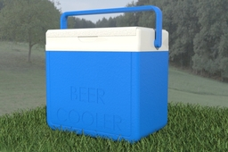Beer Cooler, good for renders at picniks next to streams, fishing ads good model.