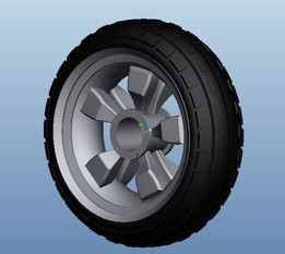 assembled tyre