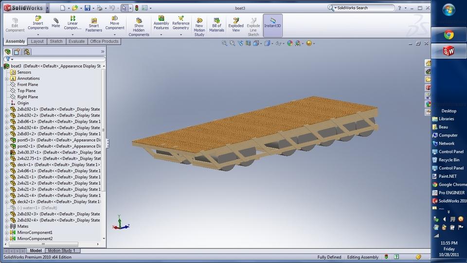 Pontoon Boat | 3D CAD Model Library | GrabCAD